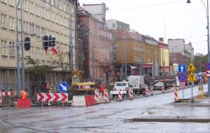 Utrudnienia na ul. 3 Maja w Gdańsku