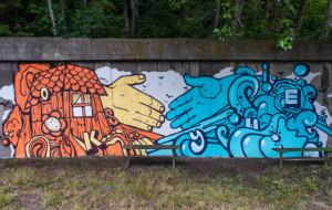 Nowy, morski mural na Oksywiu