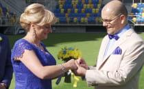 Pierwszy ślub na stadionie w Gdyni