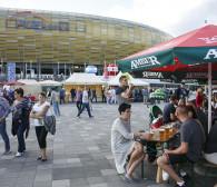 Piwna biesiada przy stadionie w Letnicy