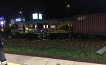 Zderzenie drezyny i pociągu towarowego
