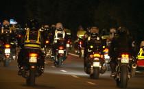 Motocykliści przejechali nocą przez Gdańsk