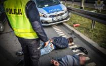 Pościg i wypadek na Trasie Sucharskiego