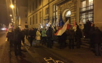 Demonstracja przed gdańskim sądem