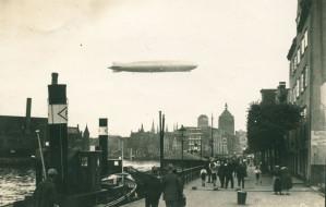 """Siedem wizyt """"Grafa Zeppelina"""" nad Gdańskiem"""