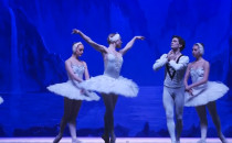 Połączenie baletu z łyżwiarstwem...