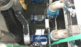 Trwa instalacja silnika w przepompowni na Ołowiance