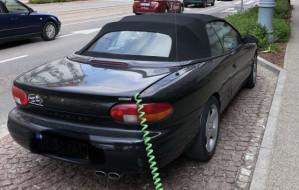 Udawał, że jego samochód jest... elektryczny