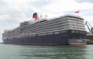 Luksusowy wycieczkowiec Queen Elizabeth w Gdyni