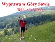 Wyprawa w Góry Sowie, 1500 km szosą