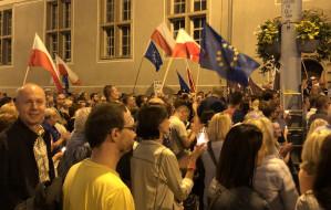 Protest KOD-u przed sądami w Gdańsku i Gdyni