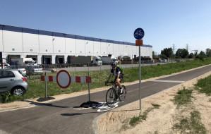 Początki drogi rowerowej do Sobieszewa