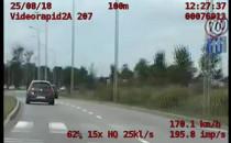 Jechał przez miasto 170 km/h i to z zakazem