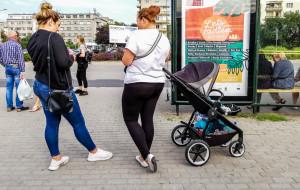 Gdynia: wózek przed rowerem w komunikacji