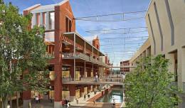 Nowe Śródmieście ze szklanym dachem nad Radunią