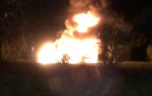 Nocny pożar samochodów na Chełmie