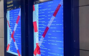 Dworzec we Wrzeszczu wciąż bez informacji pasażerskiej na ekranach