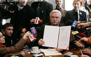 Status pokrzywdzonego dla Wałęsy