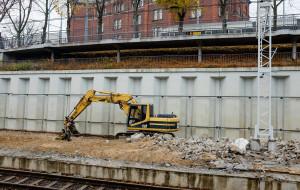 Kolejny peron dworca Gdańsk Główny w remoncie