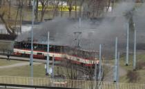 Zapalił się tramwaj. Ruch już wrócił do normy