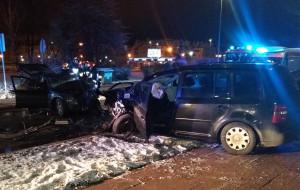 Czołowe zderzenie na Małomiejskiej. Sprawca był pijany i nie miał prawa jazdy