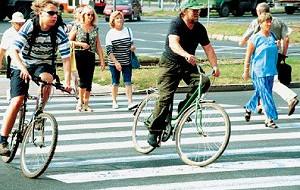 Rower na drodze