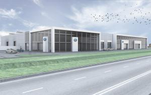 Przy stadionie powstaje salon Volkswagena