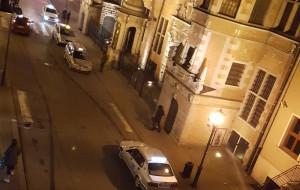 Postój taksówek na deptaku na Tkackiej