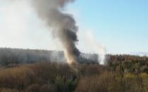 Skutki pożaru bazy harcerskiej we Wrzeszczu