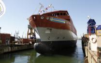 Wodowanie okrętu dla szwedzkiej marynarki...