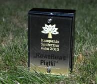 """""""RoweRowe Piątki"""" zwyciężyły w prestiżowym konkursie na Kampanię Społeczną Roku 2010"""