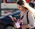 Rozdawali bukiety kwiatów w centrum Gdańska
