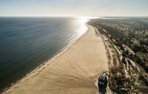 Plaża na Stogach najszerszą plażą w Polsce
