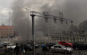 Pożar auta w tunelu pod Forum Gdańsk