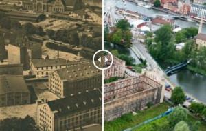 Śródmieście Gdańska na zdjęciach historycznych i współczesnych z drona