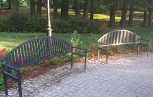Ławki w parku Oruńskim do wymiany