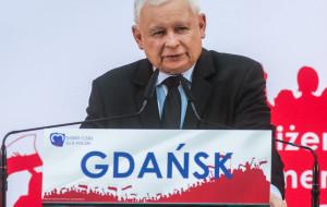Jarosław Kaczyński na konwencji PiS w Gdańsku