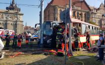 Gdańsk. Wypadek przy Bramie Wyżynnej....
