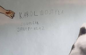 Zniszczył mural i podpisał się