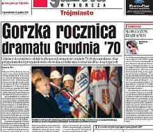 Gorzka rocznica dramatu Grudnia '70