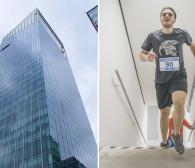 Bieg po schodach na ostatnie piętro najwyższego wieżowca w północnej Polsce