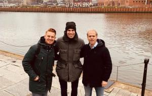 Holenderski piłkarz Robin van Persie odwiedził Gdańsk