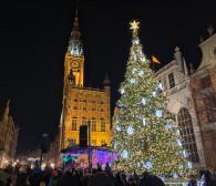 Św. Mikołaj zapalił lampki na gdańskiej choince