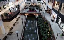 Kanałem Raduni w Forum Gdańsk popłynęła woda