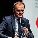 Donald Tusk na spotkaniu w Europejskim Centrum Solidarności