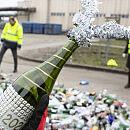860 kg butelek zebrano w noc sylwestrową