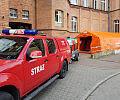 Strażacy walczą z koronawirusem - mierzą temperaturę i stawiają polowe izby przyjęć