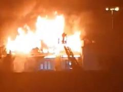 Pożar Gedanii w Gdańsku 11.04.2020 r.