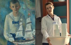 Pracownicy Narodowego Muzeum Morskiego interpretują obrazy na zdjęciach