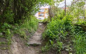 Nowe schody we Wrzeszczu: połączą ulice Makuszyńskiego i Reymonta